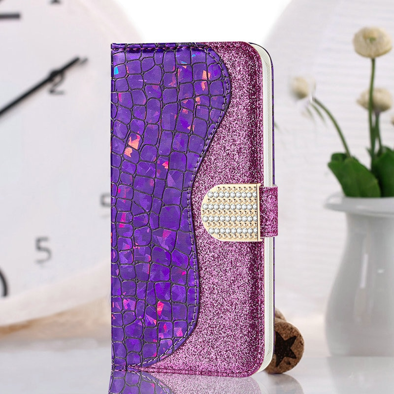 Bling Wallet for Coque Samsung A50 Case S10 Samsung A70 Case S9Plus Note 10 for Samsung Galaxy A40 S9 Plus J4 J6 2018 A7 A30 A10